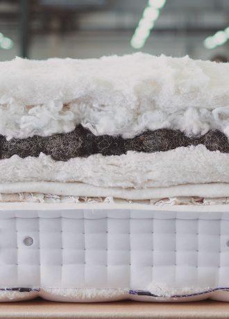 Vispring real shetland wool horse hair mattress materials factory