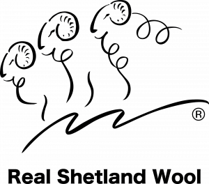 Real Shetland Wool Logo for Vispring Sheep